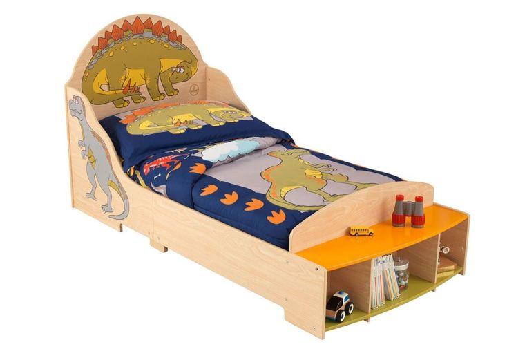lit pour enfant en bois, tout petits lit kidkraft dinosaures