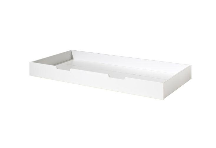 Lit Gigogne en Bois de Pin pour Lit Housebed 90 x 190 cm Blanc