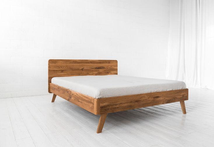 Lit king size en bois de chêne massif
