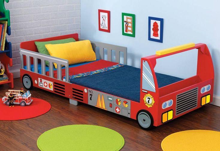 lit pour tout petits camion de pompier lit pour enfant camion de pompier kidkraft. Black Bedroom Furniture Sets. Home Design Ideas