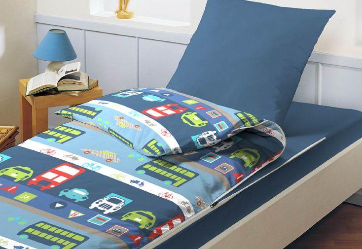Lit Tout Fait Prêt à Dormir Caradou 90x190cm Bus Bleu