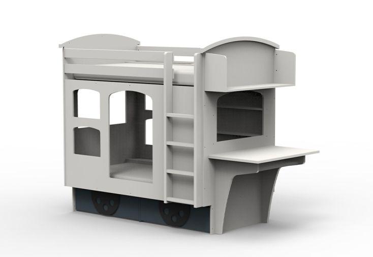 lit superposé enfant en forme de wagon