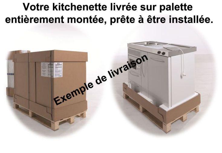 Mini-Cuisine Inox avec Lave-Vaisselle et Vitrocéramiques MPGSES110