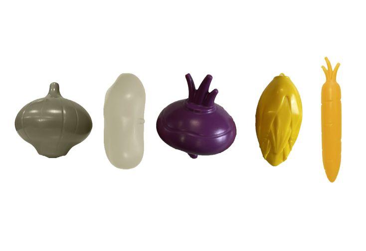 Set de 5 légumes décoratifs et éducatifs pour enfant