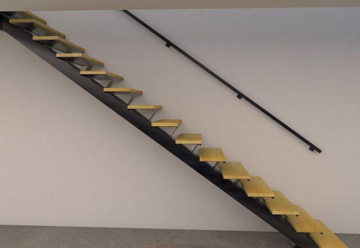 main courante pour limon en acier escalier m tal escalier m tal. Black Bedroom Furniture Sets. Home Design Ideas