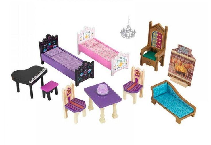 Maison de poupées disney le palais d arendelle de la reine des