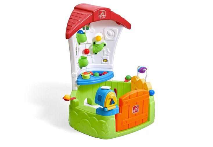 maison d'enfant en plastique avec forme et cuisine pour bébés