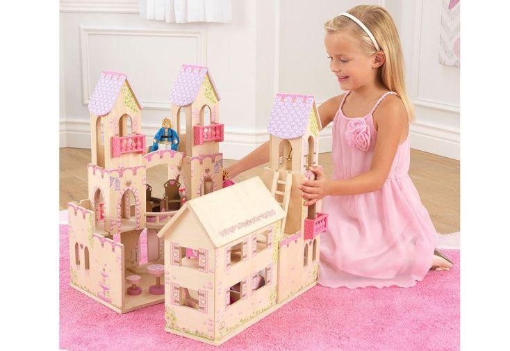 maison de poupées en bois peint kidkraft accessoires inclus