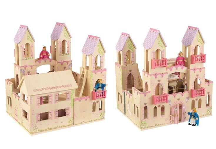 maison de poupées château de princesse chevaux et poupées inclus
