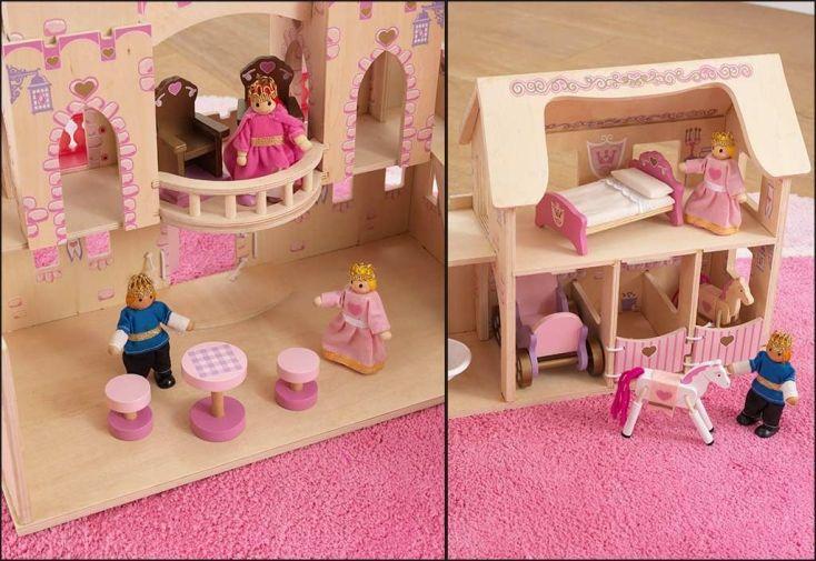 maison de poupées en bois kidkraft château de princesse