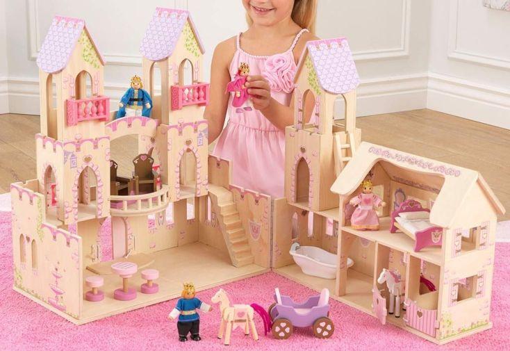 maison de poupées en bois écuries château de princesse