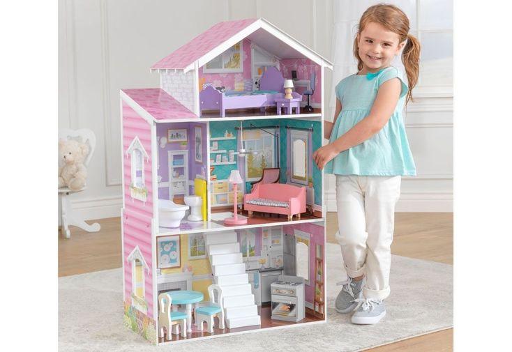 grande maison de poupées 1,20 m en bois avec accessoires
