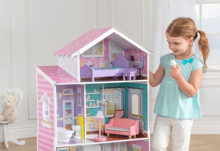maison de poup es en bois manoir glendale 1 20 m kidkraft. Black Bedroom Furniture Sets. Home Design Ideas