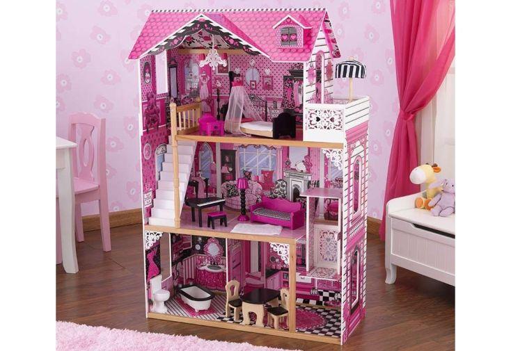 Maison de poup es en bois am lia 1 20 m kidkraft for Accessoire maison barbie
