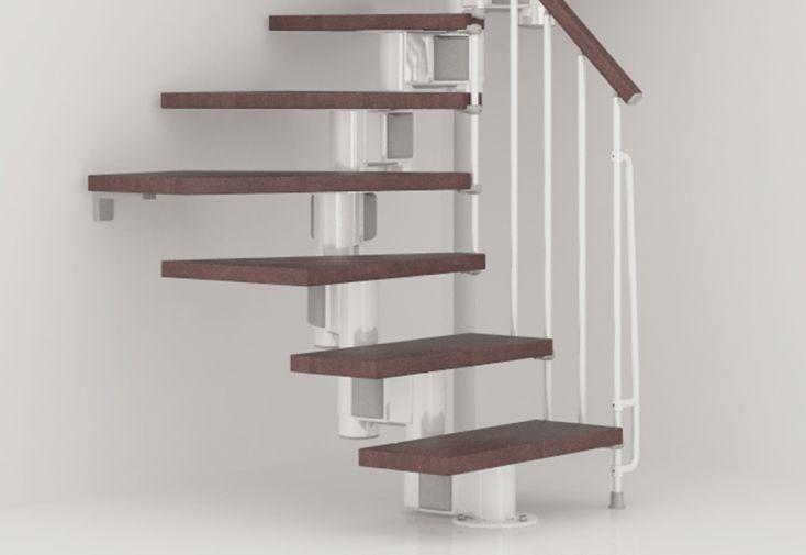 Marche et colonnettes pour escalier