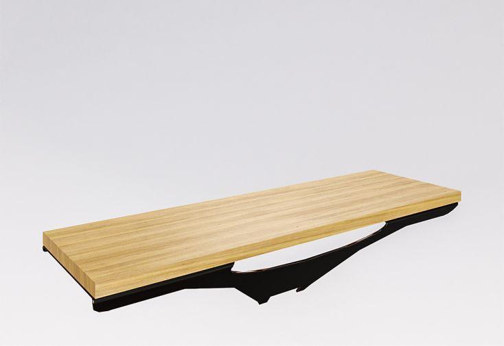 marche en bois de chêne massif pour escalier limon suspendu