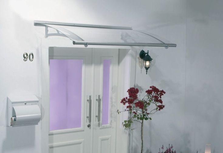marquise pour porte d 39 entr e acier aluminium et. Black Bedroom Furniture Sets. Home Design Ideas