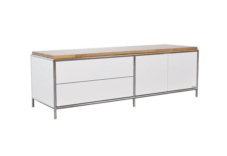 meuble bas de télévision deux portes / deux tiroirs