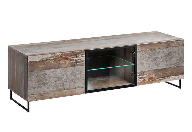 Meuble TV en Bois et Verre ASM Meble Plank 45 x 150 cm