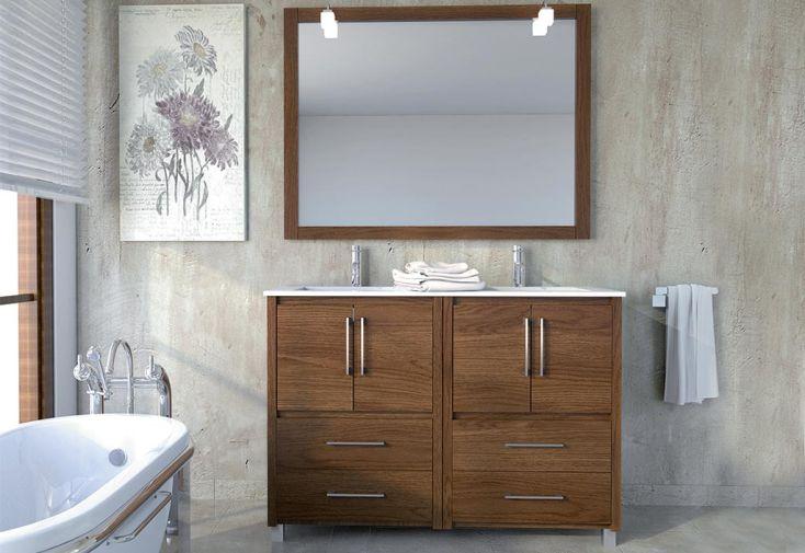 Meuble de salle de bain avec vasque miroir spot for Meuble vasque salle de bain avec miroir