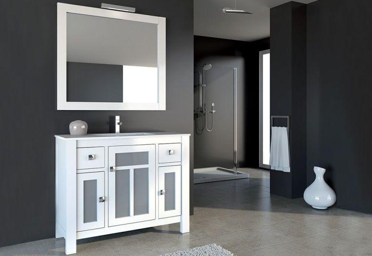 Meuble de salle de bain avec vasque miroir spot for Meuble salle de bain avec miroir