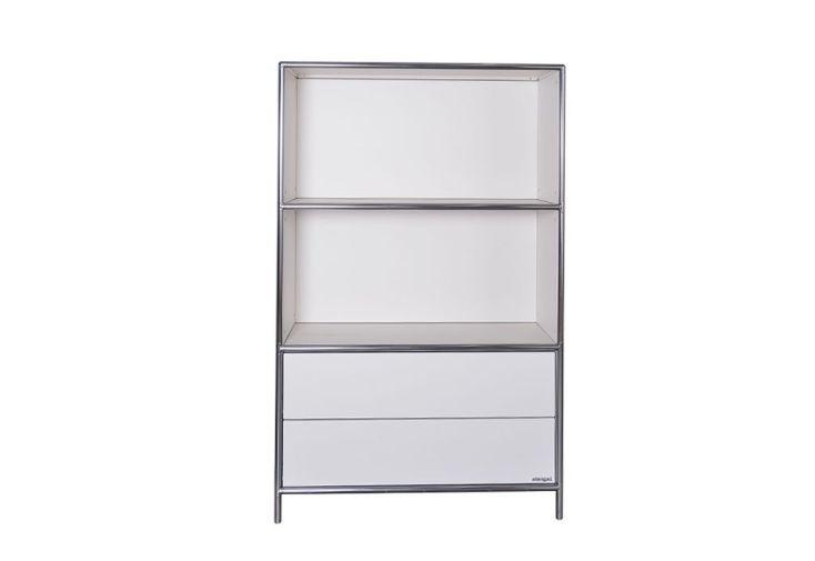 étagère pour bureau deux étages / deux tiroirs