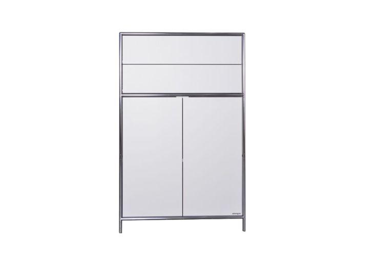 armoire de bureau à 1 placard et 2 tiroirs