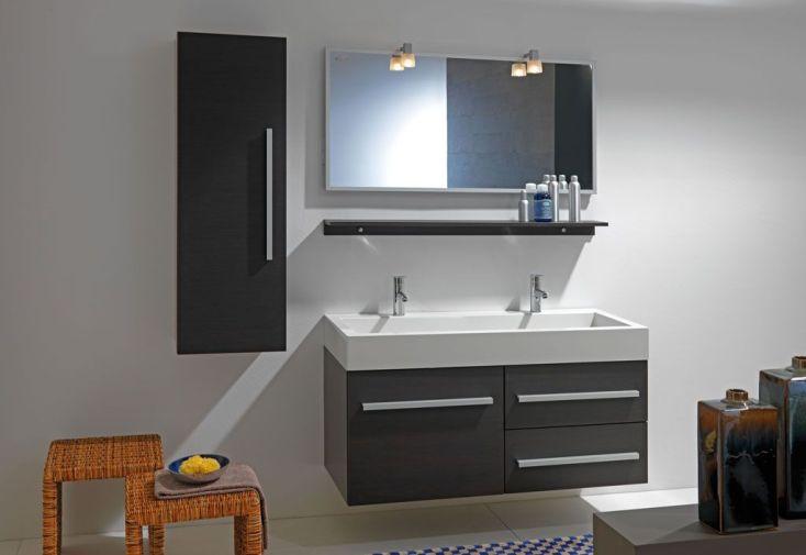 meuble de salle de bain 2 vasques tia 120 kolpa