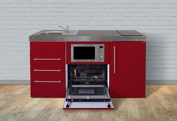 meuble kitchenette rouge tout équipé