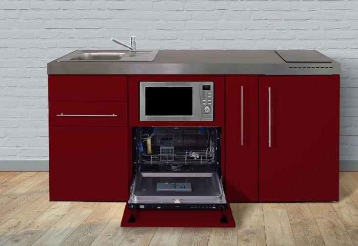 cuisinette pour studio rouge Stengel toute équipée