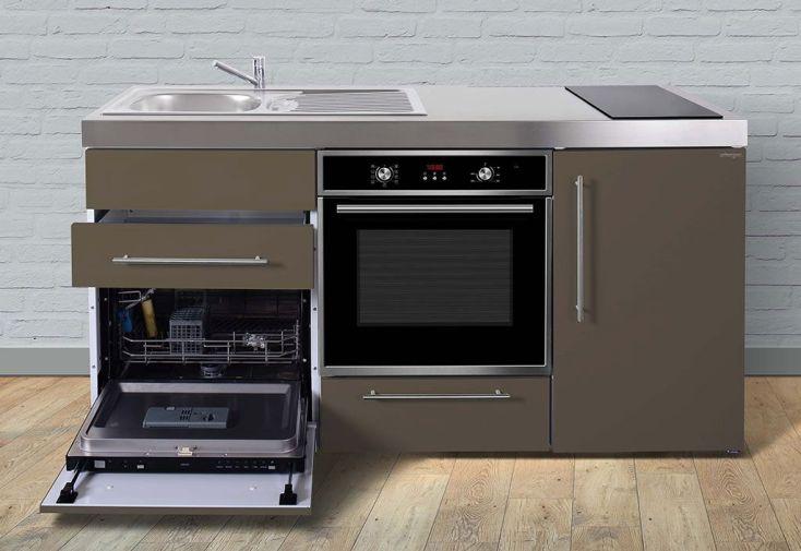 Mini cuisine avec frigo l v four et induction mpbgs170 6 coloris stengel - Cuisine avec frigo noir ...