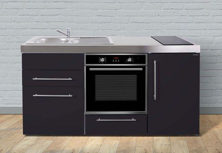 Mini cuisine avec frigo l v four et induction mpbgs170 6 coloris stengel for Cuisine avec frigo noir