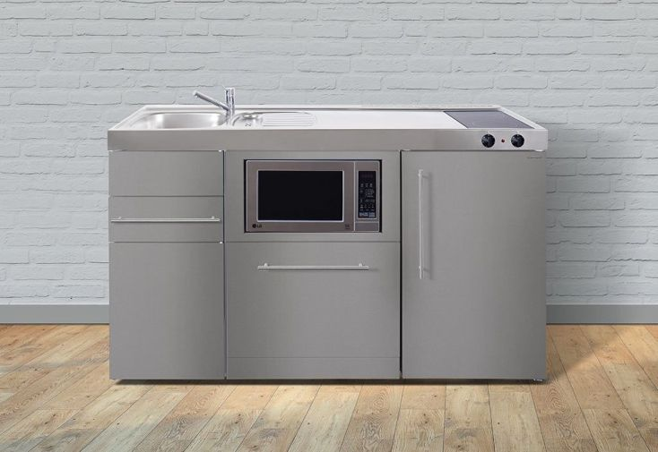 cuisine équipée 150 frigo, lave vaisselle, micro ondes, plaques à induction