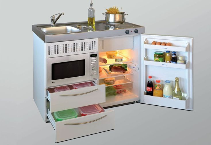 Mini-Cuisine avec Micro-Ondes et Vitrocéramiques MPM100 Blanche