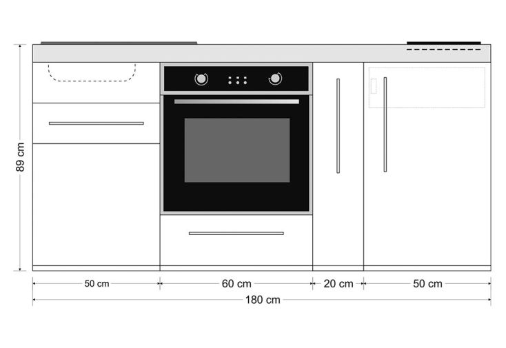 Mini Cuisine Avec Frigo Four Induction Et Epicier Mpb180a Pls
