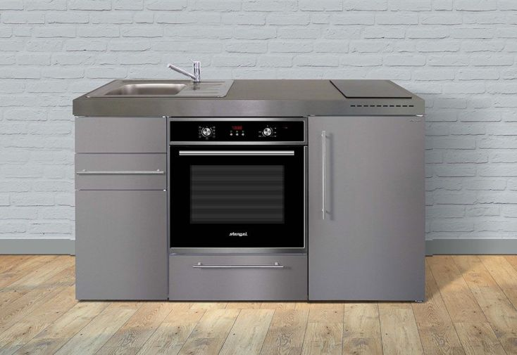 mini cuisine MPB150 avec four, frigo, évier et double plaque à induction