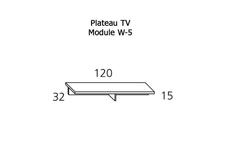 Etagère Plateau Tv 120 cm W-5