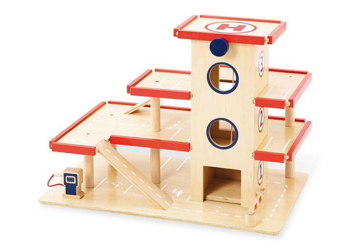 garage en bois pour enfant marque pinolino avec heliport