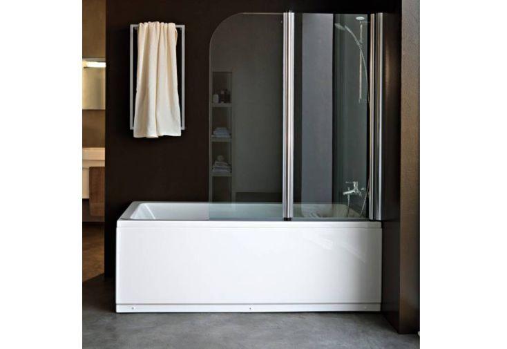 Paroi de douche double pour baignoire norma kolpa - Parois de douche pour baignoire ...