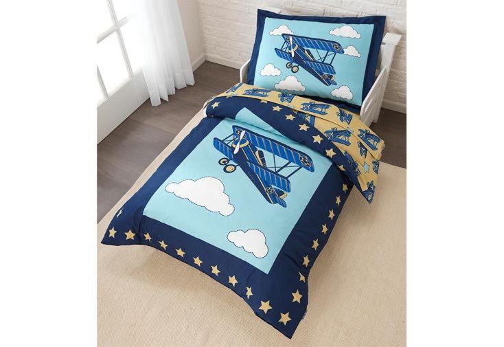 parure de lit pour enfant avion kidkraft. Black Bedroom Furniture Sets. Home Design Ideas