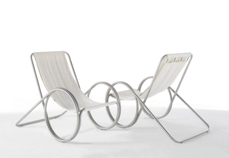 Fauteuil Inox Peg Chair Wewood