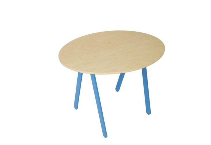 Table de jeux pieds aluminium bleu