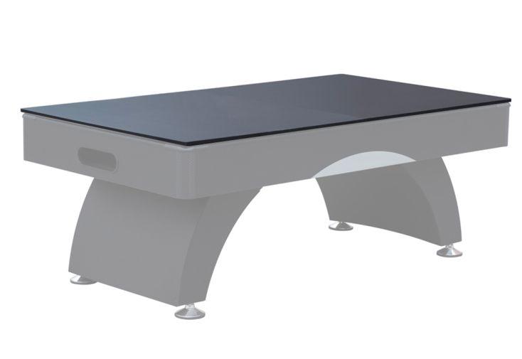Plateau dinatoire en bois noir pour table de billard