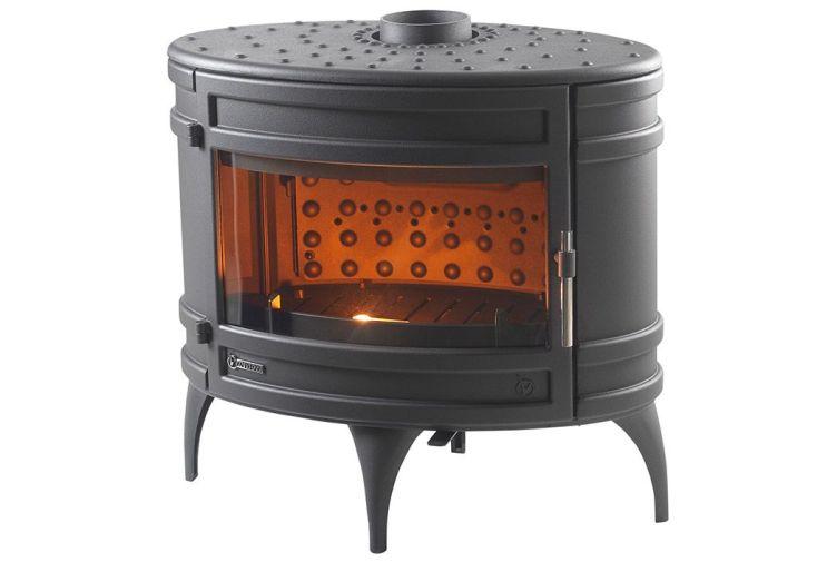 po le bois en fonte anthracite mandor 12kw invicta. Black Bedroom Furniture Sets. Home Design Ideas