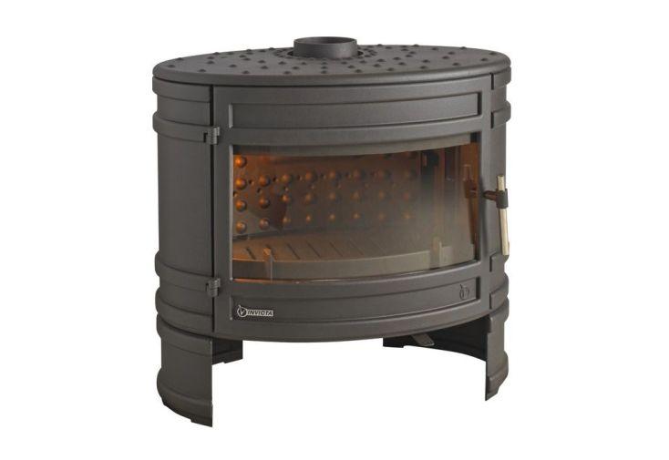 Po le bois en fonte double combustion angor 12 kw invicta - Poele a bois fonte ...