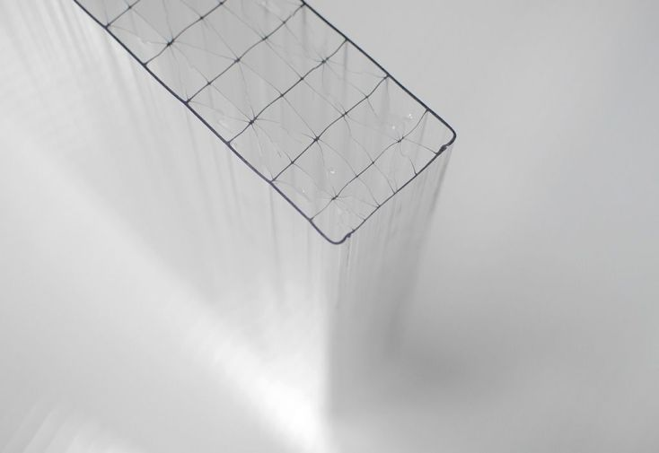 Plaque Polycarbonate Alvéolaire 32 mm 1,25 m Long. 2 à 4,5 m Sur Mesure Clair - Dhaze