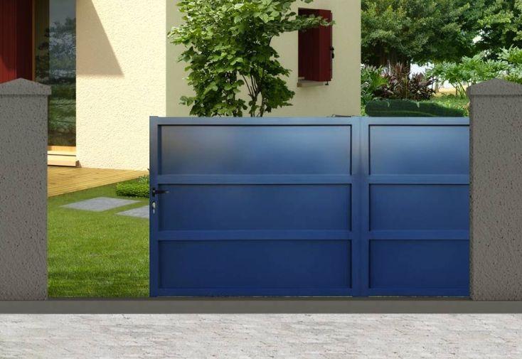 portail alu gris anthracite amazing portail droit gris. Black Bedroom Furniture Sets. Home Design Ideas