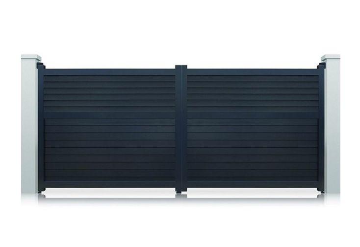portail aluminium battant motoris d troit h 1 80 m gris pls dim nfi. Black Bedroom Furniture Sets. Home Design Ideas