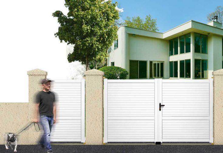 portail battant pvc blanc 3 5m callisto maine cl tures. Black Bedroom Furniture Sets. Home Design Ideas