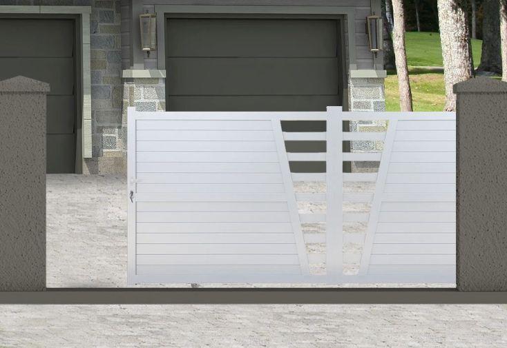 portail en aluminium coulissant avec ouverture manuelle 1,70 m